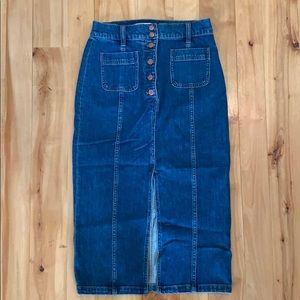 Madewell Jean skirt. Size 26.